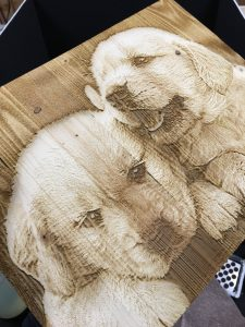 Engraved Puppies 1