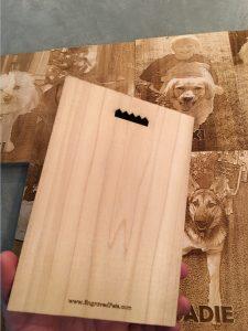 Engraved samples back side