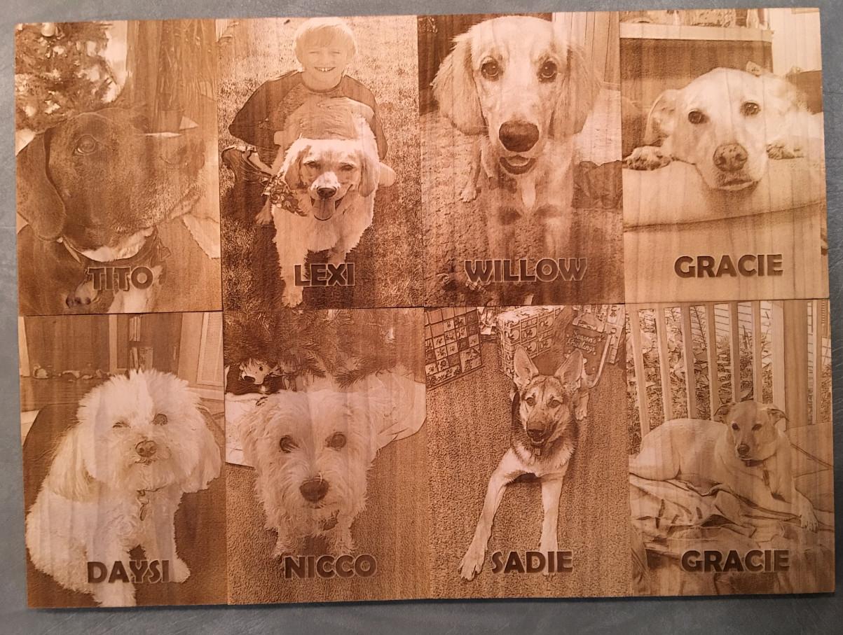 Laser Engraved Pets Photos On Wood Plaques Engravedpets Com