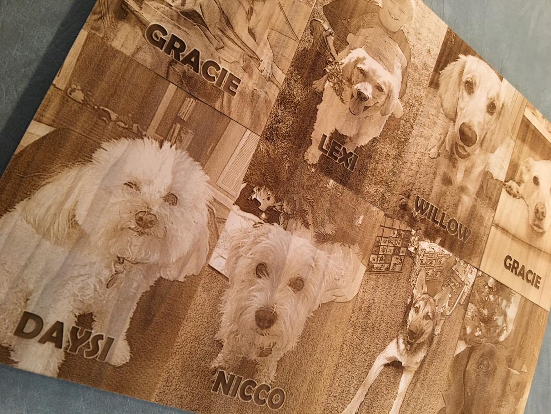 Laser Engraved Pets Photos on Wood Plaques - EngravedPets.com