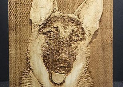 Laser Engraved Dog