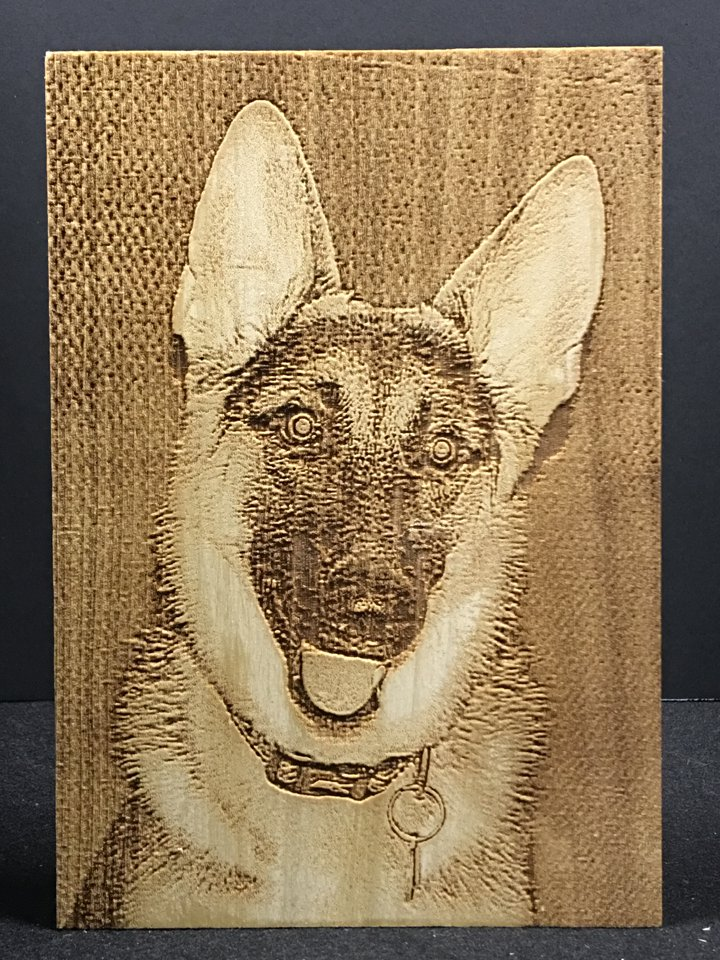 Laser Engraved Photo Of Your Pet On A Small Wood Plaque