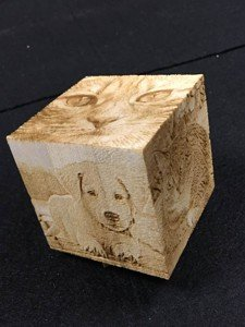 Engrave your photo on wood